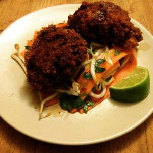 slow cooked local beef croquettes